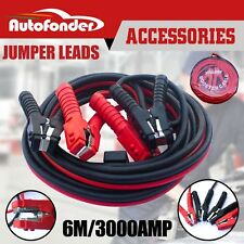 Heavy Duty 3000AMP 6M Long Jumper Leads Surge Protected Jump Car Booster Cables