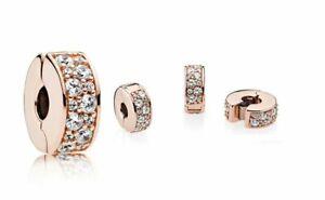 Pandora ROSE Charm Clip 781817CZ Shining Elegance Clear CZ ALE R