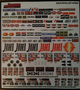 1/32 SLOT CAR SPONSORS AND CLUSTERS DECAL QUALITY VINYL BLACK STRIPE SCALEXTRIC