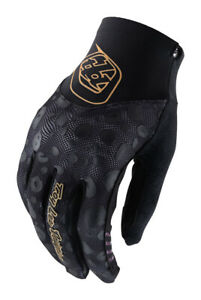 Troy Lee Designs Womens Ace 2.0 Cheetah Black Gloves