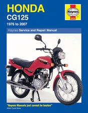 Haynes Manual 0433 Honda CG125M-1 CG125ES-4 CG125ES-7 1976-2007 NEW