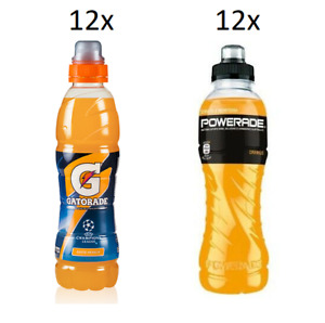 TESTPAKET Gatorade Powerade Arancia Energiegetränk Orange ( 24 x 50cl )