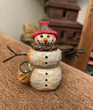 Pam Schifferl * Midwest of Cannon Falls * Snowman with Seed Sack Figurine