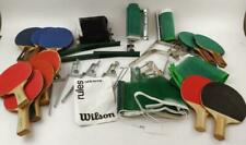 Assorted Ping Pong Table Tennis Accessories Nets Paddles Brackets Rules