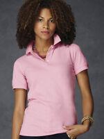 Anvil ladies polo shirt short sleeved  pique 100% pre-shrunk ring spun cotton