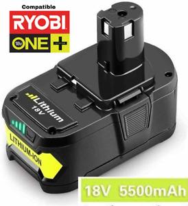 Batterie pour Ryobi 5,5Ah 18V Li-Ion ONE Plus P104 P105 P102 P103 P107 P108 One+