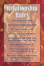 Relationship Rules Funny College Love Poster 24X36 344