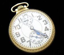 M83 Elgin B.W. RAYMOND 16s 23j Up/Down Wind Indicator Pocket Watch **VERY NICE**