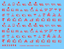 Archer Ar35098R 1/35 Wwii Late German Tactical Symbols (Red, 1943 - 1945)