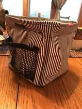 THIRTY-ONE SMALL SQUARE BAG STORAGE  COLLAPSIBLE Black White Stripe.