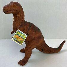 "Allosaurus Figure 9"" 1993 Jasman Plastic with Original Dino Description Tag 21B"