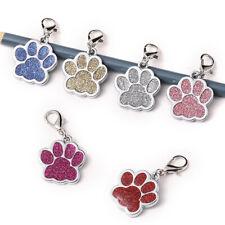 Glitter Footprint Pet Pendant Jewelry Identity Card Tag Dog Cat Tag Accessories