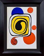Alexander Calder Original Farbe Lithographie Limitierte Ed. 1971 + Maßgefertigt