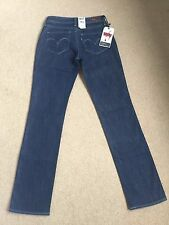 Para Mujer Levis Bold Curve tramo Recto Jeans W26 L32 BNWT (732)