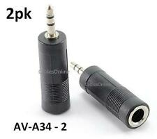 "2pk 1/4"" Stereo Female Jack to 3.5mm St Plug Adapter"