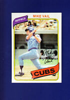 Mike Vail 1980 TOPPS Baseball #343 (NM) Chicago Cubs