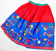 Boho Banjara Kuchi Tribal Belly Dance Ethnic Gypsy India Embroidery Rabari Skirt