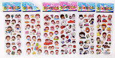 3D Anime foam Classic rabbit Cartoon Stickers Kids party Gift 6pcs/set handmade