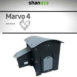 CHICKEN COOP PLASTIC HEN HOUSE NEST BOX HUT QUALITY SHANECO MARVO 4