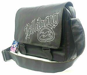 Billabong Messenger Bag Brown Laptop School Leather Satchel Shoulder Sale £20