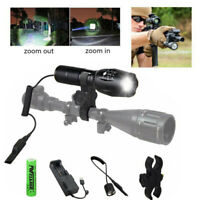 VastFire 150 yard Zoom Focus 1000LM LED Tactical Hunting Flashlight Torch 18650