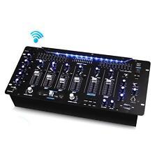 "NEW Pyle PYD1964B Bluetooth 6-Channel DJ Mixer 19"" 5U w/LED Illuminated Controls"