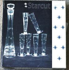 Starcut Collection 7 Piece Set; One Decanter & 6 Shotglasses