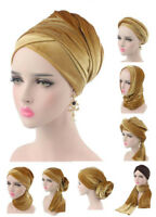 Muslim Velvet Hijab Hat Islamic Women Head Wrap Long Tail Scarf Arab Turban Caps