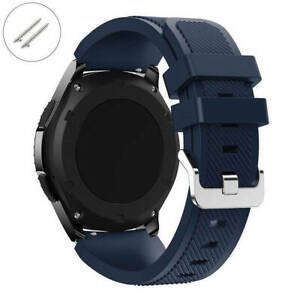 Dark Blue Navy Rubber Silicone Watch Band Strap Quick Release Pins #4043
