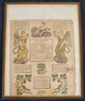 Antique Brunner Birth Certificate 1822 Allentown PA Pennsylvania Dutch German O