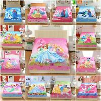 Disney Princess 2pcs Fitted Sheet Set 100% COTTON Twin Full Queen Bedding Set