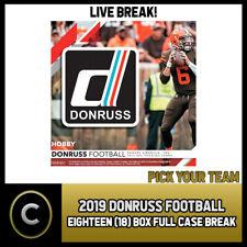 2019 DONRUSS FOOTBALL 18 BOX (FULL CASE) BREAK #F498 - PICK YOUR TEAM