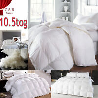 LUXURY HOTEL QUALITY DUCK FEATHER & DOWN WARM DUVETS QUILT ALL SIZES  10.5 TOG