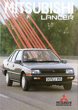 Prospekt / Brochure Mitsubishi Lancer 08/1985