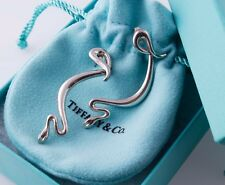 Collectible Tiffany & Co. Elsa Peretti Silver Snake Dangling Drop Earrings