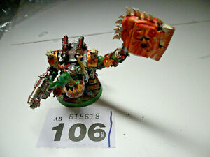 Warhammer 40k Ork Nob Mega Armour squig for face painted W106