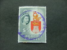 Singapore 1955 $5 multicoloured SG52 GU