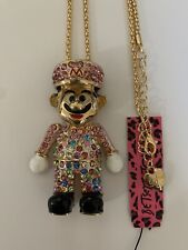 Colorful Rhinestone Bib Hat Game Uncle Crystal Betsey Johnson Necklace-BJ88221