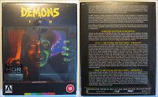 DEMONS 1 & 2 4K UHD ARROW LIMITED EDITION UK NEW & SEALED INCL V2 DISC
