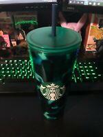 Rare Starbucks 2020 Summer Teal Turquoise Tortoise Green Blue Wave Tumbler 24oz