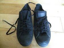 CONVERSE ALL STAR Mens Black Lace Up Canvas Trainers size 9 UK - 42.5 EU