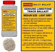 Proses BAL-01 Light Grey Genuine Limestone Model Railway Ballast 1.4Kg / 3Lbs