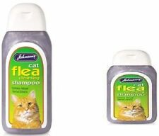 Johnsons Cat Flea Cleansing Shampoo 125 200 ml cats & kittens  8 + weeks of age