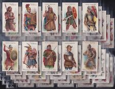 PLAYERS, ARMS & ARMOUR (BLUE BACK) ORIGINAL SERIES OF 50 ISSUED IN 1909 NICE SET