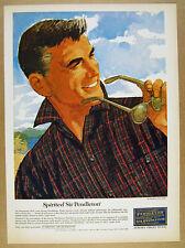 1964 Sir Pendleton plaid shirt Ted Rand men's fashion art vintage print Ad