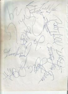 1991 Indiana Pacers Autographed Page by 14 w/ Reggie Miller & Rik Smits