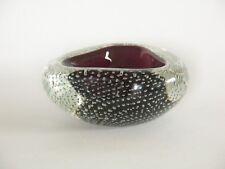 Vtg Labelled Murano Archimede Seguso Bullicante Controlled Bubble Geode Bowl