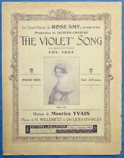 CHAMBGF2 ROSE AMY CASINO PARTITION THE VIOLET' SONG YVAIN WILLEMETZ CHARLES 1920