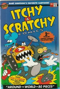 Itchy and Scratchy Comics #1 1993 Bongo Entertainment VF-
