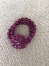 Purple Lola Rose Flower Bracelet